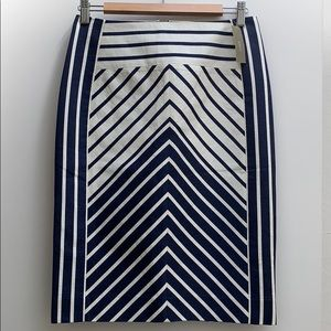 J.Crew Chevron Stripe Pencil Skirt NWT Size 2